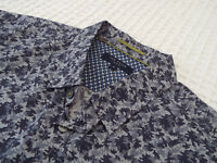 """TED BAKER Mens Shirt 🌍 Size 5 (42"""" CHEST) 🌎 RRP £110+ 📮 LIBERTY STYLE PRINT"""