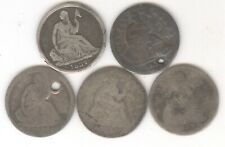 Lot of 5 - Seated Liberty Half Dimes + 1837,183?,1838,1843,1853 + No Reserve!