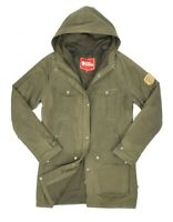 Womens Fjallraven Greenland G-1000 Jacket Green Forest Outdoor Pockets Size S