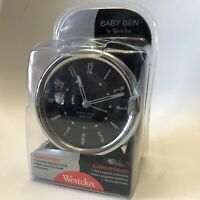 Vintage Baby Ben By Westclox Wind Up Alarm Clock Black/Silver Model No 11510