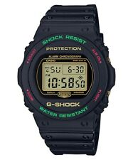 Casio G-Shock * DW5700TH-1 Special Color Black Resin w/ Red & Green Watch