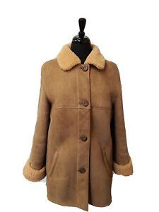 Women's Morlands Sheepskin Coat Size 12 EU40 Specialist Dry Cleaned