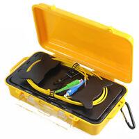 Fiber Optic OTDR Launch Cable Box 1KM SM 1310/1550nm Fiber Rings SC APC-SC UPC