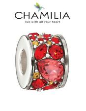 Genuine CHAMILIA 925 silver Swarovski RED CHIANTI MOSAIC charm bead RRP £70