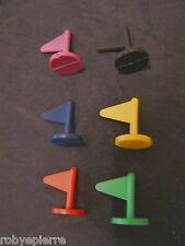 Risiko gioco in scatola vintage ricambi 6 bandierine gialla verde rossa blu nera