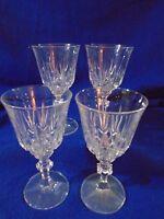 CRYSTAL SET OF 4 WATER OR WINE GLASSES