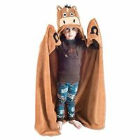 LazyOne Hooded Critter Fleece Blanket Horse with a Tail - Brown Horse