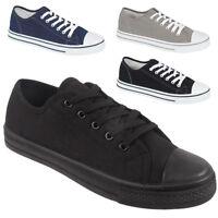 Mens Canvas Pumps Trainer Casual Sports Shoes Plimsolls Trainers Size UK 7-12
