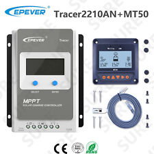 EPEVER Tracer 2210AN 20A Solar Panel Charge Battery Controller +MT50 Display