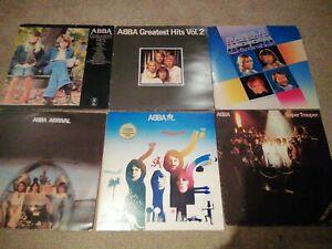 ABBA Vinyl LP Records Job Lot Thank You For The Music Arrival Album Super Troupe