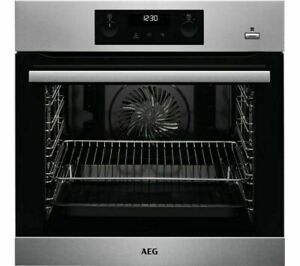 AEG BPS356020M Electric Oven Stainless Steel Auto cleaning 77 litres Pyrolytic