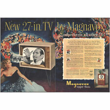 1953 Magnavox Tv: Outperforms All Other Tv Vintage Print Ad