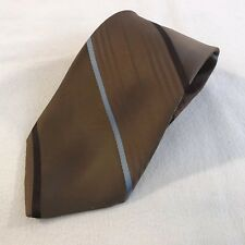 Vintage Sears The Mens Store Striped Polyester Clip On Neck Tie (T2)