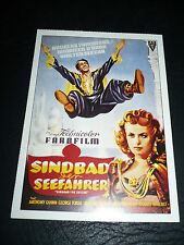 SINBAD THE SAILOR, film card [Douglas Fairbanks Jr., Maureen O'Hara]