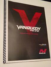 Minelab Vanquish 440/540 Metal  00004000 Detector -Color Manual 8 ½�x 11�