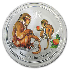 2016 5oz Silver Lunar Year of the Monkey Colored  Coin