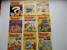 x9 VINTAGE DANDY Comic Library No 88-96 1986-87 British Comics Libraries Laugh