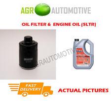 PETROL OIL FILTER + FS 5W40 ENGINE OIL FOR VOLKSWAGEN GOLF 1.4 75 BHP 1997-04