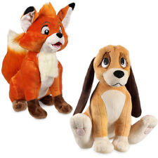 Disney Store Parks The Fox & the Hound Tod Todd and Copper Stuffed Plush NEW