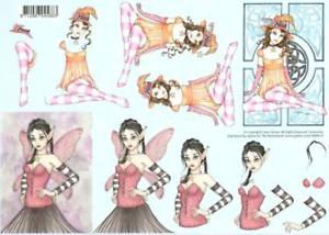 Caron Vinson Fairy Fairies - various - 2* Non-die-cut A4 Decoupage Sheets