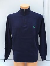 RALPH LAUREN POLO GOLF French Navy Half Zip Jumper (Green Logo) Size L-2XL BNWT