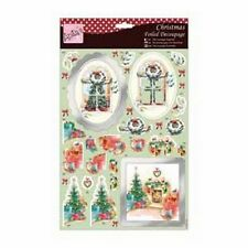 ANITAS FOILED CHRISTMAS DECOUPAGE FOR CARDS & CRAFTS - AROUND THE FIRE