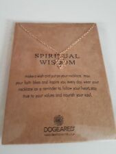 """Dogeared SPIRITUAL WISDOM Necklace Charms Gold Dipped 16"""" chain UK SELLER"""