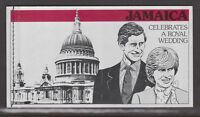 1981 Royal Wedding Charles & Diana MNH Stamp Booklet Complete Jamaica