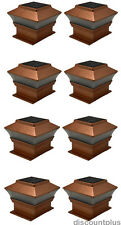 Outdoor Solar Powered Deck Cap Square Lights With 2 LEDs For 4x4 Wood Fence Post