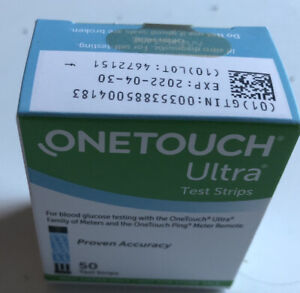 ONE TOUCH ULTRA  50 TEST STRIPS  Expires 4/30/22
