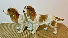 Hutschenreuther Porcelain Pair of Spaniels Dogs Made in Germany