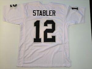 UNSIGNED CUSTOM Sewn Stitched Ken Stabler White Jersey - M, L, XL, 2XL, 3XL