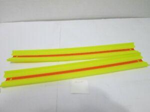 Hot Wheels GLC91 Track Builder - Straight Track Lot - Yellow w/ Orange Stripe
