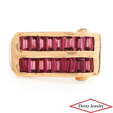Laura Ramsey Pink Tourmaline 14K Yellow Gold Cluster Ring 6.4 Grams NR
