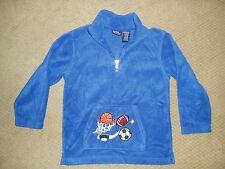 "Boy's, ""SPORTS THEMED LONG SLEEVE SWEATSHIRT"", size 7x, blue fleece, soft&cozy!"