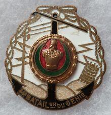 insigne WWII 34° Bataillon du Génie Sapeurs Télégraphistes ORIGINAL Aubert