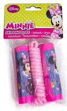KIDS GIRLS MINNIE MOUSE PINK SKIPPING ROPE JUMPING TOY PLASTIC HANDLES TOY