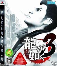 Used PS3 Ryu ga Gotoku 3 SONY PLAYSTATION 3 JAPAN JAPANESE IMPORT