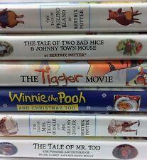 Lot of 6 Children's VHS Movies, Beatrix Potter, Tigger, Winnie The Pooh