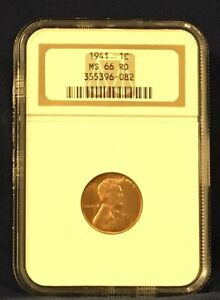 1941 Lincoln Wheat Cent MS 66