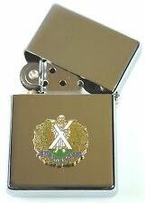 QUEENS OWN CAMERON HIGHLANDERS  WINDPROOF CHROME PLATED LIGHTER SM