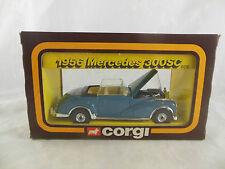 CORGI CLASSICS C 806 1956 Blu/Grigio MERCEDES 300SC Open Top AUTO del anni'50