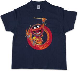 WICKED DRUMMER Kids Boys T-Shirt Club Hard Drums Heavy Metal Rockabilly Rock