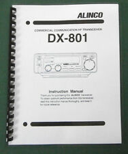 Alinco DX-801 Instruction Manual: Comb bound & Protective Plastic covers
