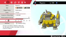 VGC Rhyperior 6IV Square Shiny - Pokemon Sword and Shield [Fast Delivery]