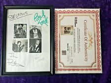 More details for sex pistols hand signed signature display piece - sid vicious, johnny rotten
