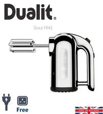 Dualit Hand Mixer Chrome DHM3 3 Different Attachments EU Plug W/ FREE UK Adapter