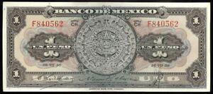 Mexico P-46b Banco de Mexico 1 Peso CH-F, 26-VII-50 EF/AU
