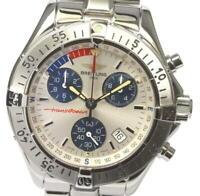 BREITLING Transocean A53340 Chronograph Silver Dial Quartz Men's Watch_564645