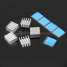 5 Dissipatore di Calore con Adesivo Conduttivo 9x9x5mm per Stampanti Processer